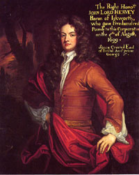 Lord John Hervey, Baron of Ickworth, painted by J Fayram