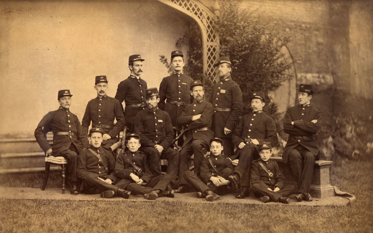 Postmen and Messengers of Bury St Edmunds around 1885.