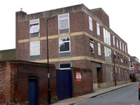The Borough Offices extension, with offices and a new Council Chamber, in Lower Baxter Street.