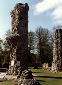 Remains of the once mighty Abbey of St Edmund