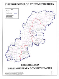 Parliamentary constituencies introduced in 1997 for St Edmundsbury's area.