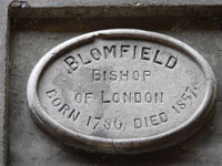 These plaques were set up after 1907. This one was on Blomfield House, now demolished, but replaced by a Health Centre of the same name.